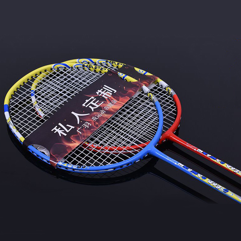 LOKI Children Badminton Racket Light Carbon Badminton Racquet 75g 19-24 LBS
