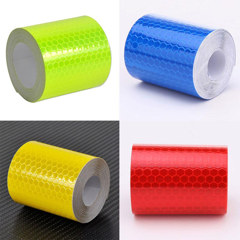 5X300cm Car decoration Motorcycle Reflective Safety Warning Tape Stickers Car Styling For Automobiles Safe Material Safety