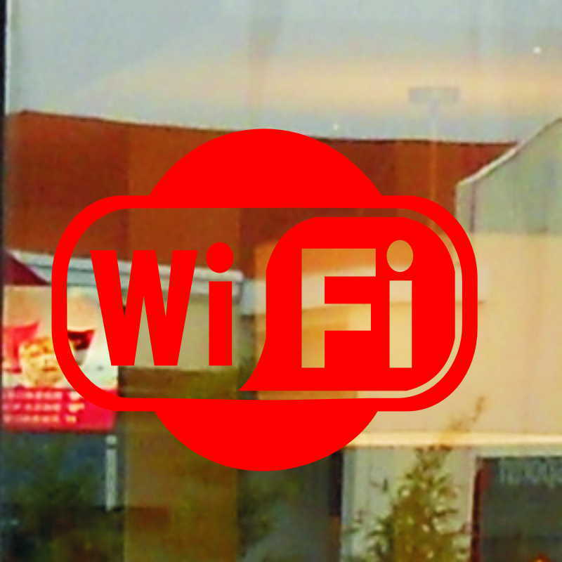 US $0 77 |Free Shipping WIFI sign sticker for glass wall coffee KFC shop or  home decor Wireless Fidelity sticker DWM56-in Wall Stickers from Home &