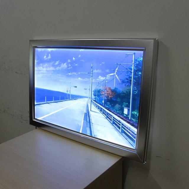 Aluminum slim snap frame display led backlit light box 24\
