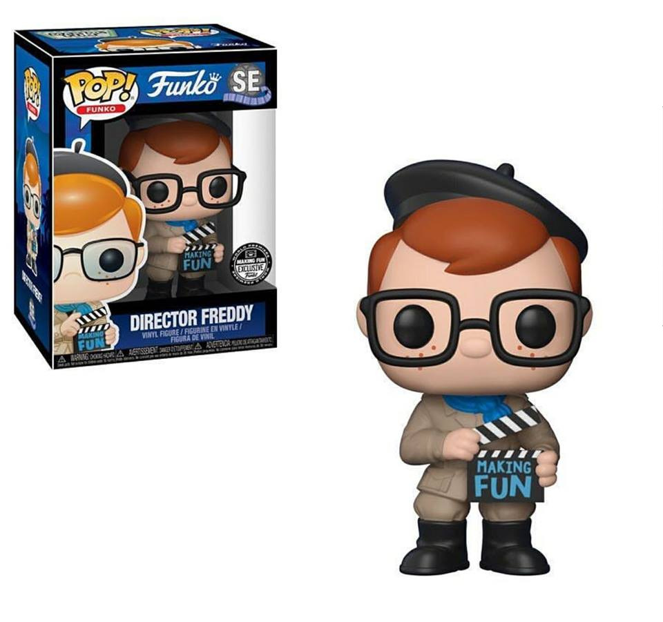 Exclusive Funko pop Official Director Freddy Making Fun Documentary Vinyl Action Figure Collectible Model Toy In Stock image