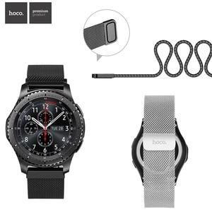 Image 1 - HOCO Manyetik Kapatma Milanese Döngü saat kayışı Samsung Galaxy Dişli S3 Klasik Bilek Kayışı Samsung Dişli S3 Sınır Bant