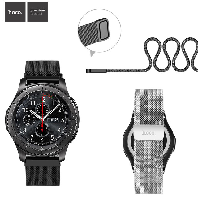 HOCO Manyetik Kapatma Milanese Döngü saat kayışı Samsung Galaxy Dişli S3 Klasik Bilek Kayışı Samsung Dişli S3 Sınır Bant