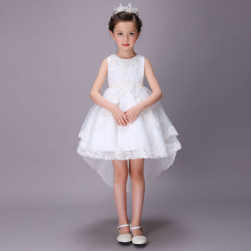 Flower Kids Party Dress For Girl Birthday Fancy Children Bridesmaid Costume Girl Brand Baby Tulle Tutu Wedding Dress 2-12 Years fancy girl mermai ariel dress pink princess tutu dress baby girl birthday party tulle dresses kids cosplay halloween costume