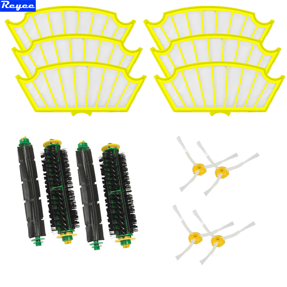 14Pcs Free Post New Side brush Filter 3 armed kit For iRobot Roomba Vacuum 500 Series Clean Tool Flexible Bristle Beater Brush 3 armed side brush flexible beater brush bristle brush filter for irobot roomba 500 series vacuum cleaner accessory kit