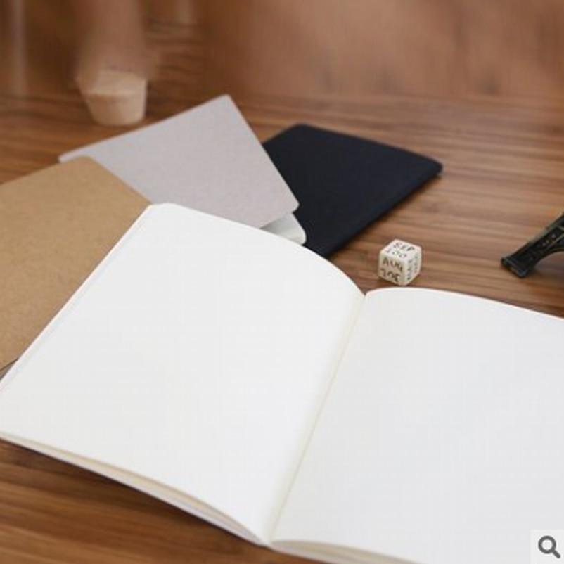 20PC DIY A6 lindo cuaderno de papel Kraft con papel en blanco creativo dibujo libro niños regalo papelería coreana
