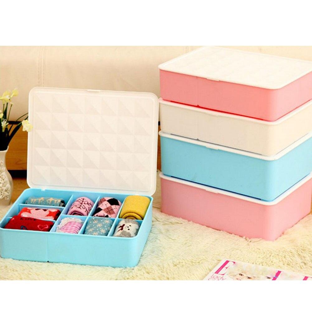 Collapsible Storage Boxes Bra Underwear Closet Organizer Drawer Divider  With Lids Storage Box Set Container With