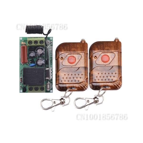 AC220V Drahtloser Fernsteuerungsschalter-system Mit 2 Stücke Sender 1CH 10A Mini Size Schalter