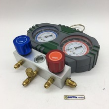 Высокое качество R410a& R32 коллектор отличный выбор для вакуума и заряда R410a газа в R410a тепловой насос, охладитель воды и блок переменного тока