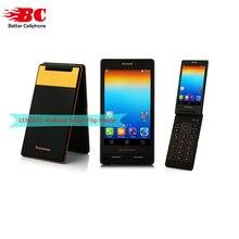 Original Lenovo Android Flip Old Phone A588T MTK6582 Quad Core Smart phone 4GB ROM Dual Sim 4.0 Inch 5MP Camera Russian Keyboard