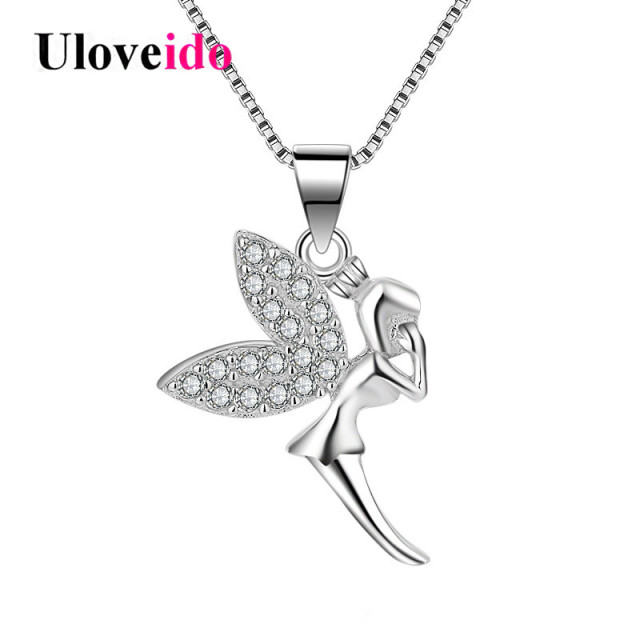 Uloveido angel pendant necklace 925 sterling silver jewelry necklace uloveido angel pendant necklace 925 sterling silver jewelry necklace women costume jewelry pendants with chain box aloadofball Gallery