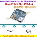 H3 Quad-core Cortex-A7 Allwinner NanoPi M1 Mais Demo Board (1 GB de RAM, 8 GB eMMC) + MicroUSB Cabo + Antena = NanoPi M1 Mais KIT-E-A