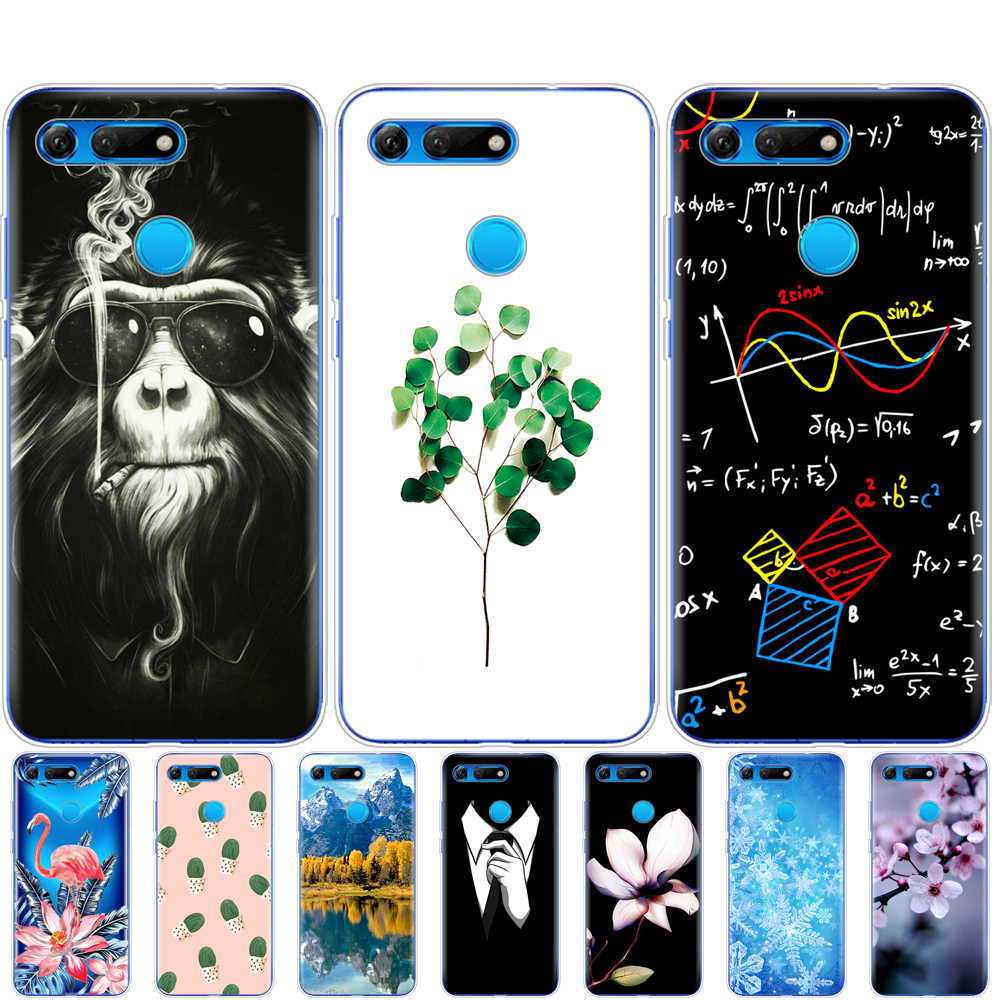 For Huawei Honor View 20 V20 Case TPU Fundas Soft Silicone phone case Cover For Honor V20 Capa pattern protective coque bumper