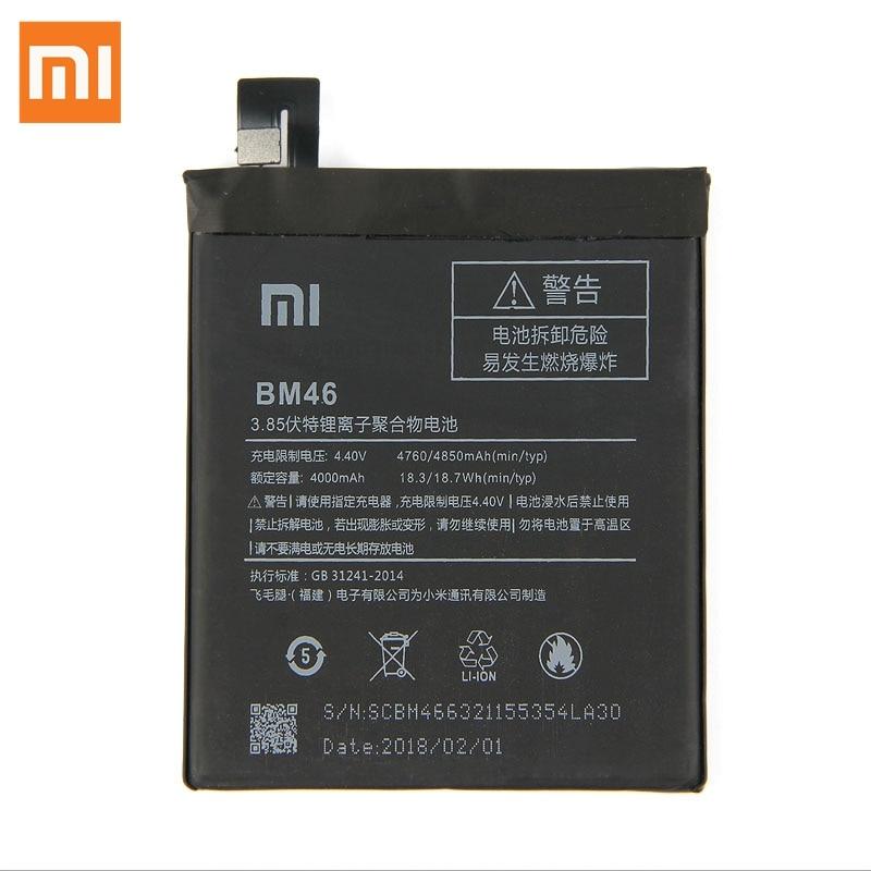 Original Replacement Battery For Xiaomi Redmi Note 3 Hongmi Note3 BM46 Genuine Phone Battery 4050mAh