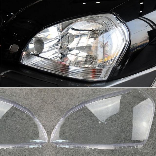 MAYITR 1 par coche faro lente claro cubierta de la cáscara de la izquierda y derecha para HYUNDAI TUCSON 2005, 2006, 2007, 2008 2009