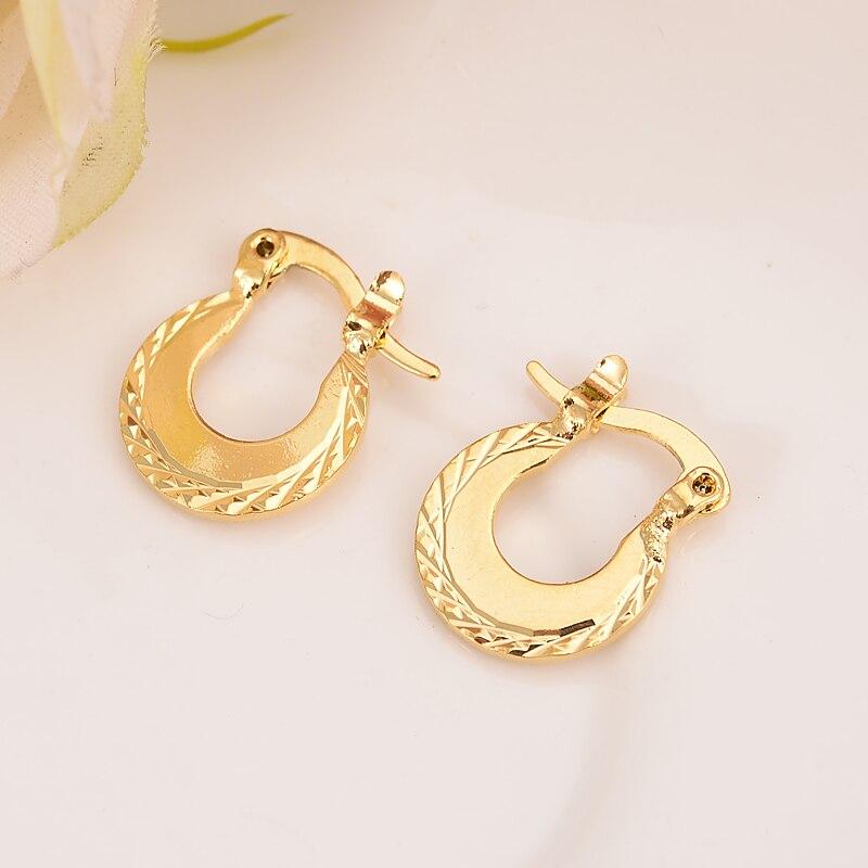 2 Pairsbaby Mädchen Kleine Runde Kreise Huggies Hoop Ohrringe Gold Schmuck Für Kinder Kinder Aros Frauen Schmuck African Beste Geschenk