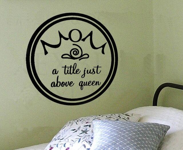 Ibu Judul Hanya Di Atas Queen Stiker Dinding Dekorasi Decal Kutipan Huruf Art Kata