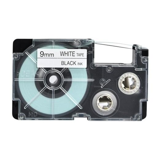 Casio tape PT 9WE XR 9WE black on white tape cartridge compatible for EZ label printer