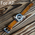 New Arrived Pure Handmade Genuine Leather Brown 28MM AP Watchbands Watch Strap Belt  Audemars For Piguet Watch