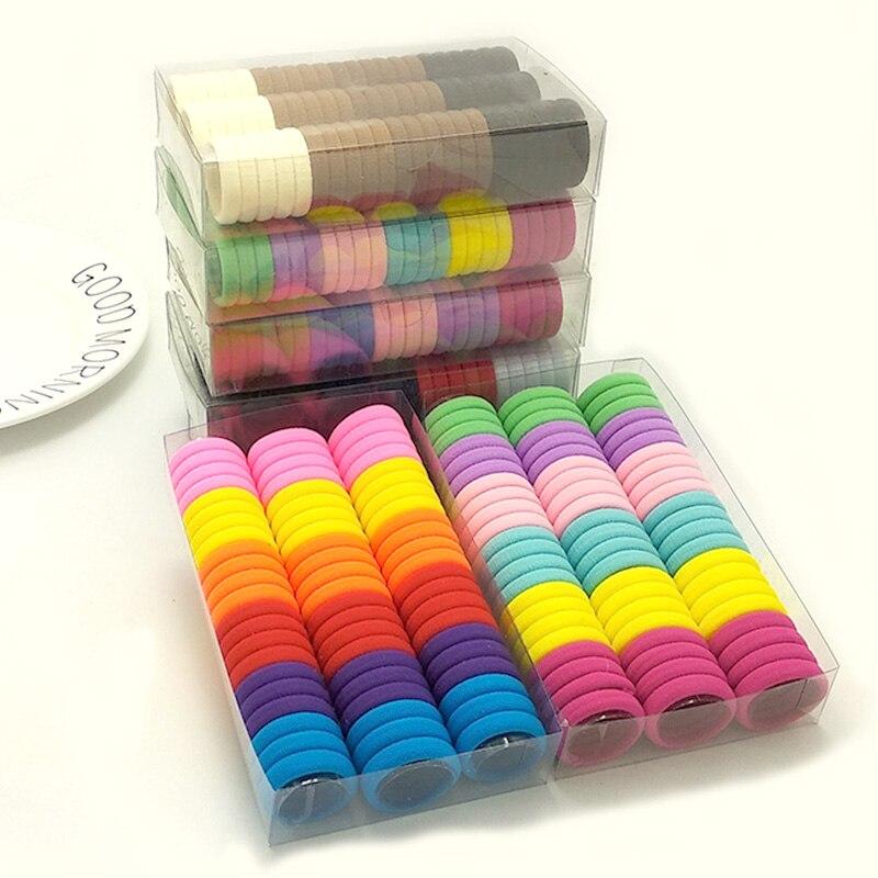 66 шт./кор. милой лентой конфеты Цвет эластичные резинки для волос Группа Детские аксессуары для волос для повязка для волос для девочек из бечёвки