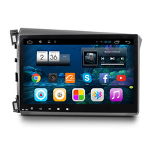 10.2″ Quad Core 1024X600 Android Car Radio DVD GPS Navigation Central Multimedia for Honda Civic 2012 2013 2014 2015 2016
