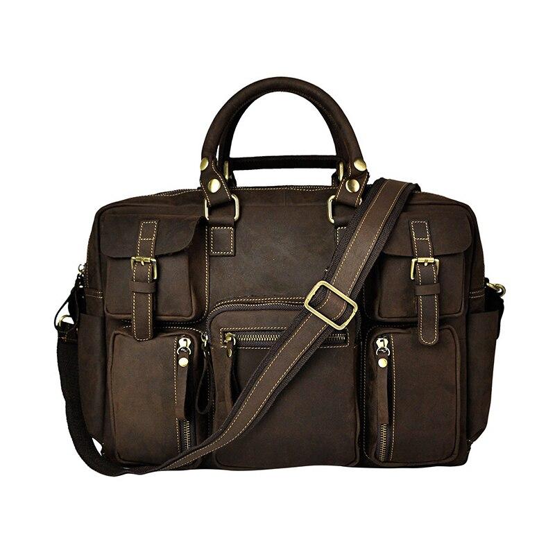 Steelsir новый импортный импорт для мужчин Crazy Horse кожа сумки 16 дюйм(ов) ов) большой ёмкость сумка для ноутбука 3061 Лидер продаж