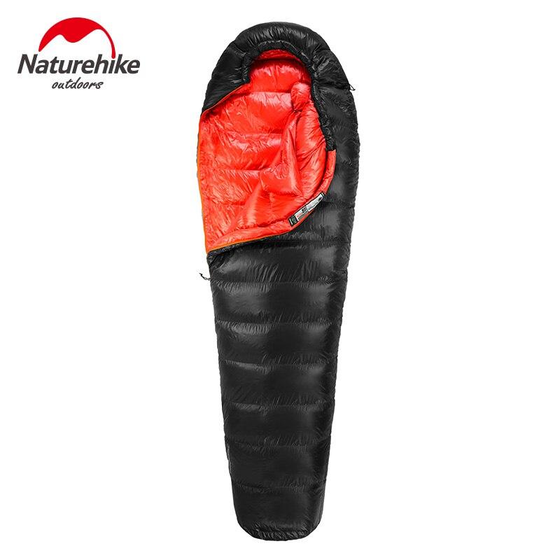 Naturehike Extérieure Duvet de Canard sac de couchage sac de couchage momie D'hiver chaud vers le bas sac de couchage sac de couchage une personne