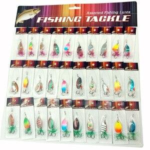 Image 1 - OLOEY señuelo de pesca artificial, cuchara de metal, cucharilla de pesca de silicona, carpa profunda, wobbler de perca para buceo, 30 Uds.