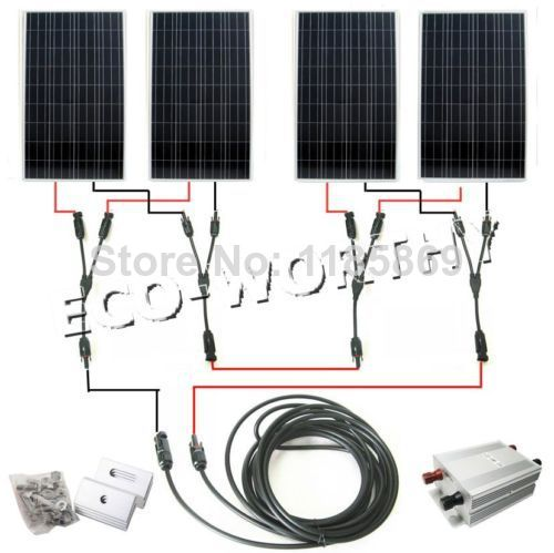 600Watts COMPLETE KIT: 600W Photovoltaic Solar Panel 24V system RV Boat 4*150W * eco worthy 40watt solar panel system off grid complete kit photovoltaic poly solar panel for rv boat cabin