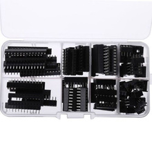 66 Stuks Ic Socket DIP6 DIP8 DIP14 DIP16 DIP18 DIP20 DIP24 DIP28 Pin Geïntegreerde Circuit Adapter Solder Type Socket Kit smalle