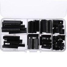 66PCS IC 소켓 DIP6 DIP8 DIP14 DIP16 DIP18 DIP20 DIP24 DIP28 핀 집적 회로 어댑터 솔더 유형 소켓 키트 좁은