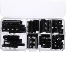 66PCS IC Socket DIP6 DIP8 DIP14 DIP16 DIP18 DIP20 DIP24 DIP28 Pin Integrated Circuit Adaptor Solder Type Socket Kit Narrow