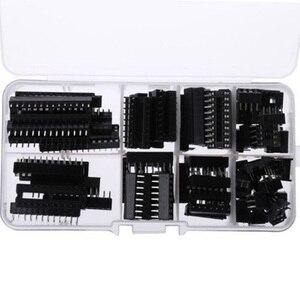 Image 1 - 66PCS IC Socket DIP6 DIP8 DIP14 DIP16 DIP18 DIP20 DIP24 DIP28 Pin Integrated Circuit Adaptor Solder Type Socket Kit Narrow