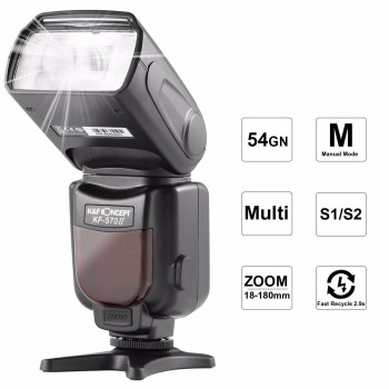 K&F CONCEPT KF-570 II Camera Wireless High Speed Flash Speedlite Universal For Canon Nikon Pentax Olympus Fujifilm VS YN560 IV
