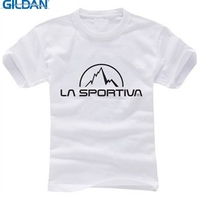GILDAN Famous Brand T Shirt LA SPORTIVA Letter Print Cotton T Shirt Short Sleeve Women Men