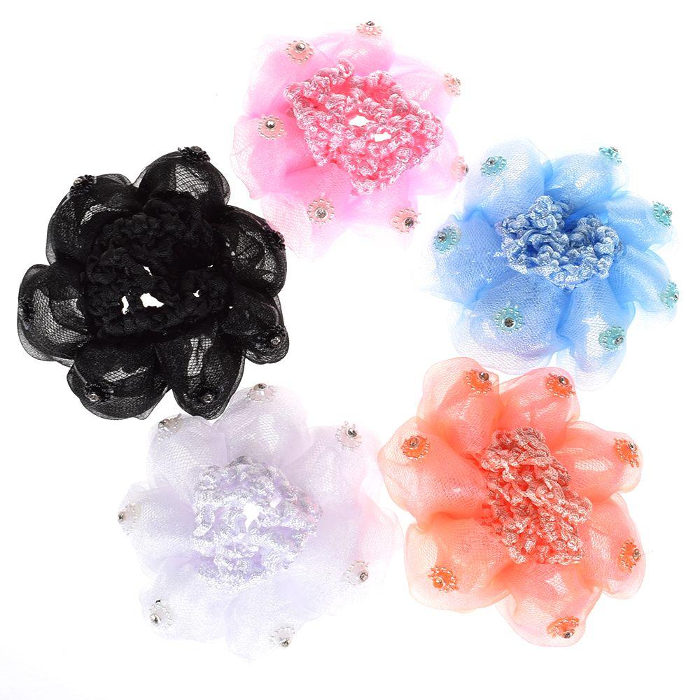 1Pc Hair Net Girls Bun Cover Snood Hair Net Sleep Ballet Dance Skating Crochet Decor Gift Hair Style Hairnets