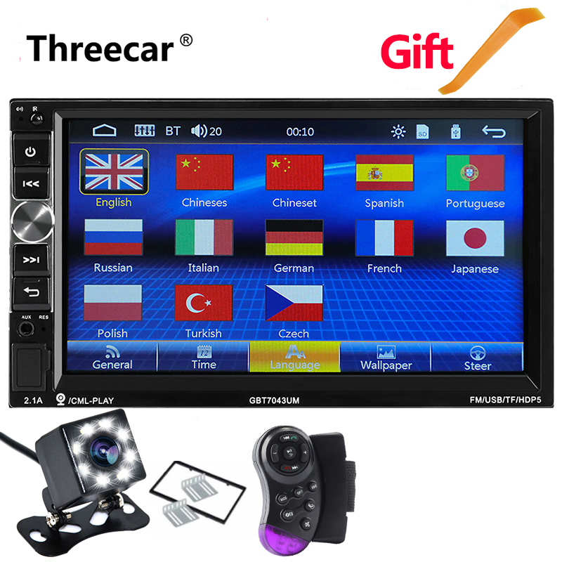 Mirror Link Car Radio With Bluetooth 7 1024 600 Double Din Car Mp5 Player Stereo Radio