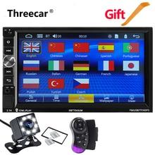 Зеркало Ссылка автомобиля радио с Bluetooth 7 «1024*600 двойной Дин Mp5 плеер стерео радио FM Аудио Видео плеер сзади камера