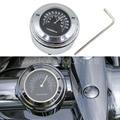 Новый Алюминиевый Хром 7/8 ''1'' Мотоцикл Термометр Термометр Темп Руль Черный Для Yamaha Road Star Черный Автомобиль Stting