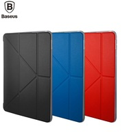 BASEUS Brand Y Type Multi Angle Standing Tablet Pu Leather Smart Cover Case For IPad 9