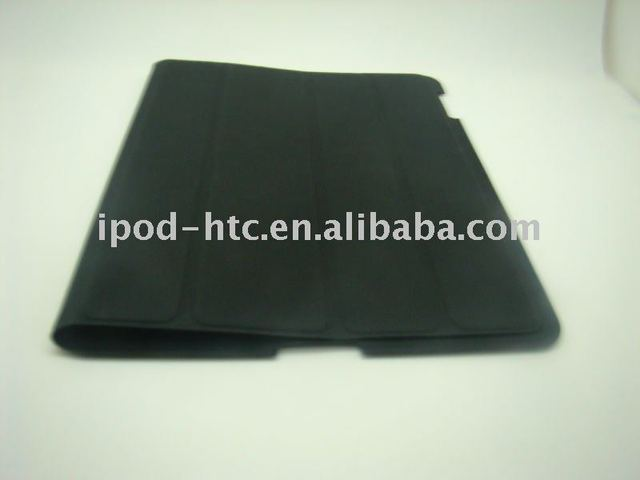new hot sell PU Double four fold smart cover skin with good quality