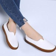חדש הגעה בתוספת גודל נשות מזדמן נוח דירות נקבה נעלי עור אמיתי נעלי אישה tenis feminino