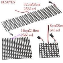 DC5V 8x8/16x16/32x8 WS2812B светодиодный Pixel panlel 2811 ic индивидуально адресуемый Светодиодный модуль rgb Светодиодный радиатор Цифровой пикселей панель