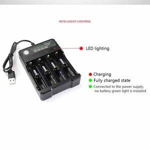 Image 3 - 18650 del Caricatore 4 slot per batteria Li Ion USB di ricarica indipendente portatile sigaretta elettronica 18350 16340 14500 battery charger