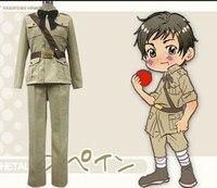 Axis Powers Hetalia Spain Suit Cosplay Costume top+pant