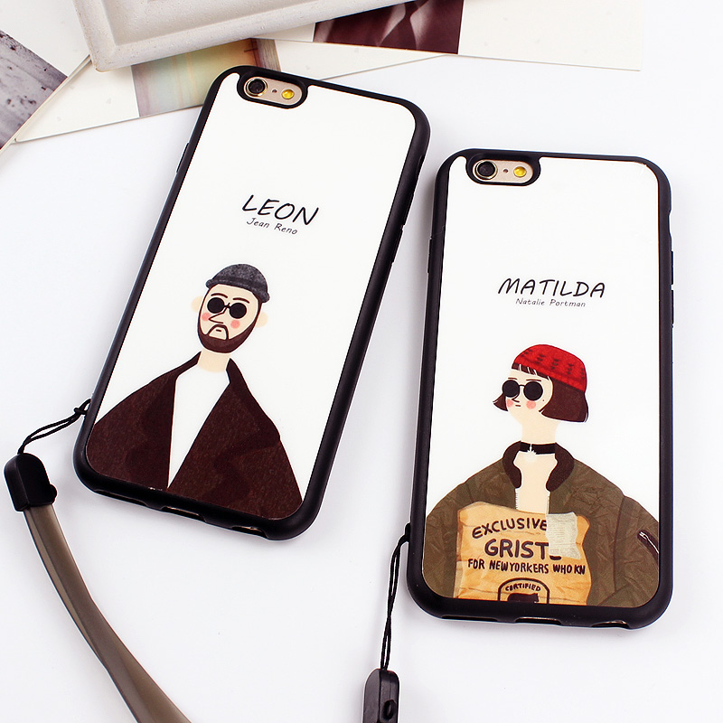Movie Killer Leon Mathilda Mirror Surface Silicon Case For iPhone 7 7 Plus 5 5s SE Back Cover for iPhone 6 6s 7 Plus Case Fundas