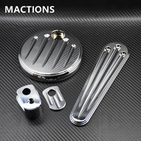 Motorcycle CNC Chrome Dash Accessory Pack Ignition Fuel Door Dash For Harley Road Glide Touring 2014 2015 2016 2017