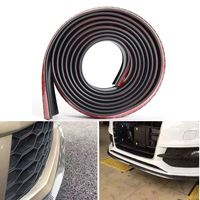Black carbon fiber 2.5mx55mm car front lips bumper bar protection strip wrapped around the tape