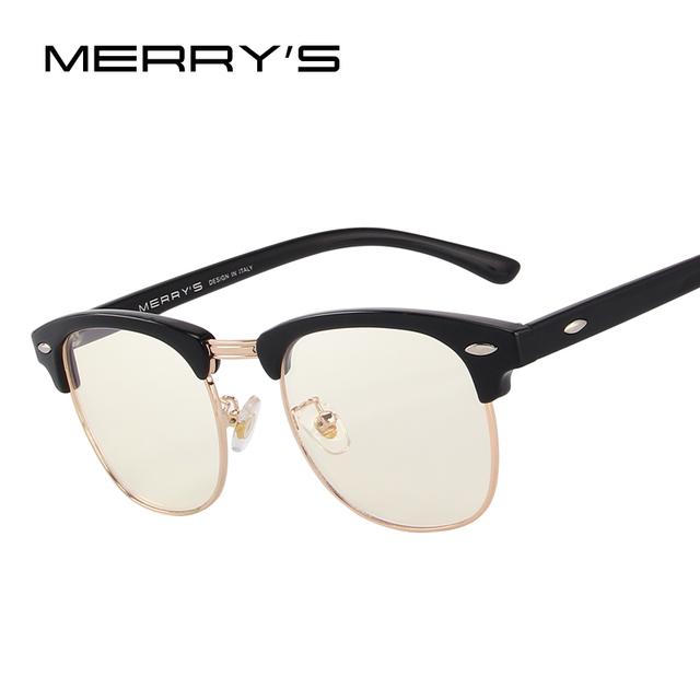 bff9b1fc4a MERRYS Anti Blue Rays Computer Goggles Reading Glasses 100% UV400  Radiation-resistant Computer Gaming Glasses S2065