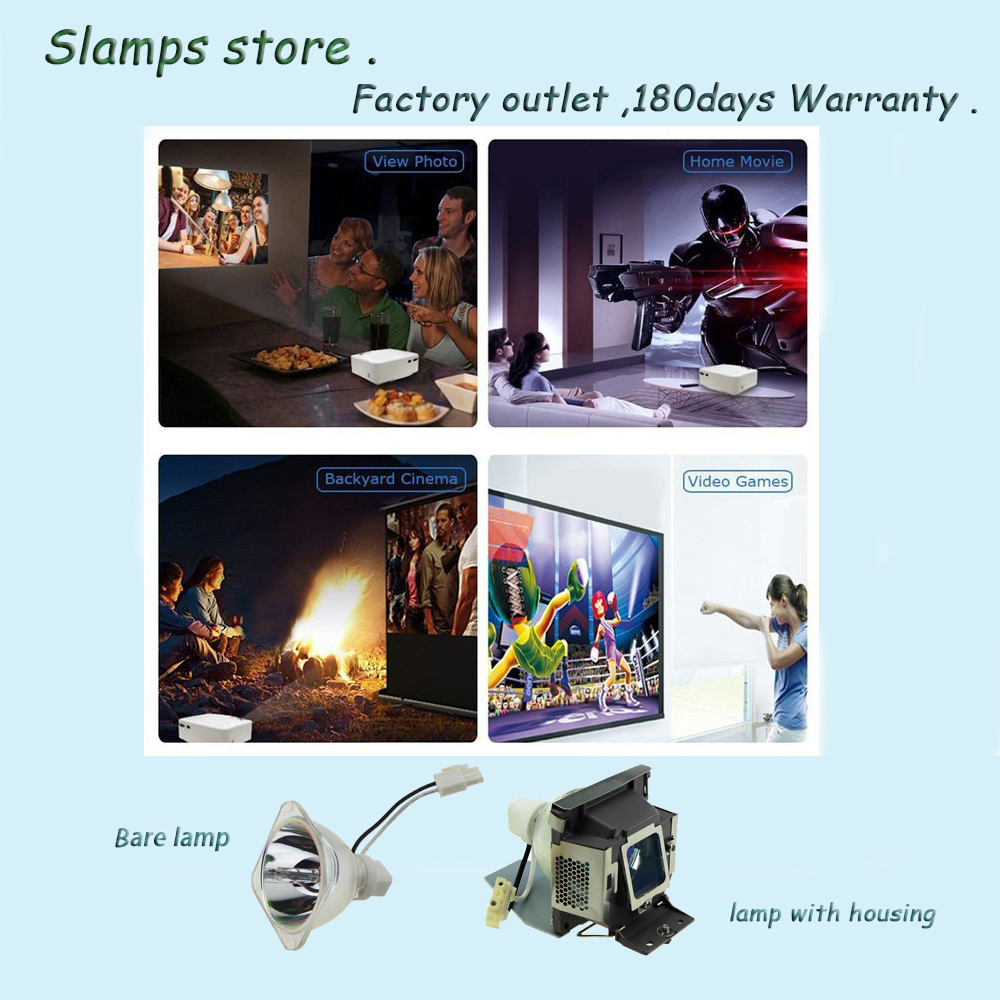 5J J0A05 001 High Quality Replacement Projector Lamp with Housing for BENQ MP515 MP525 MP515S MP525ST 180days warranty in Projector Bulbs from Consumer Electronics